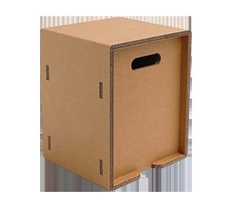 Quadratisches Sitzkissen aus Karton
