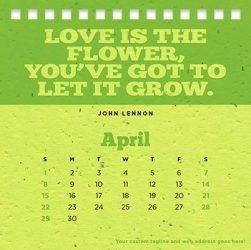 Pflanzbarer Kalender