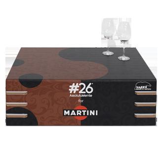 Kartontisch Martini