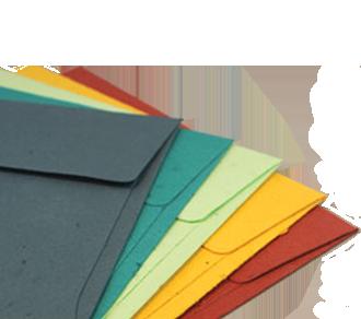 Briefumschlag aus pflanzbarem Papier