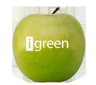 Obst mit essbarem Logo